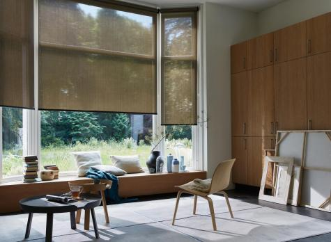 Cortinas Screen texturizadas estilo natural para living